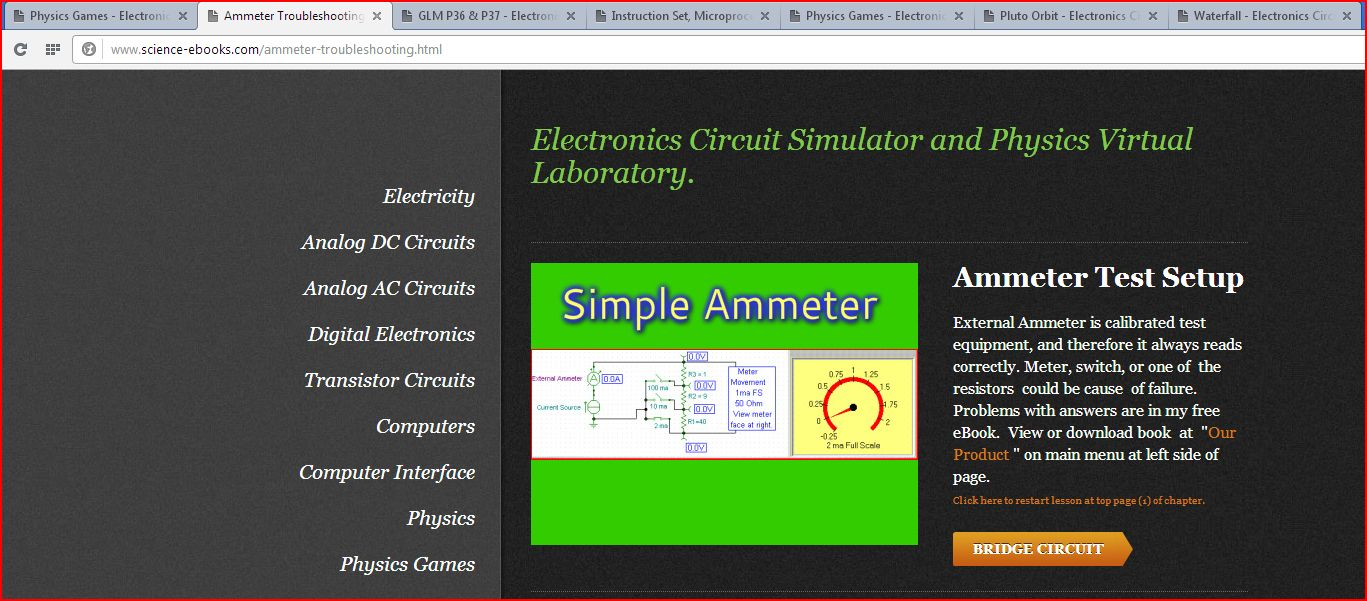 Pc Power Teaching Electronics Circuit Simulator And Physics In Ac Circuits Virtual Laboratory